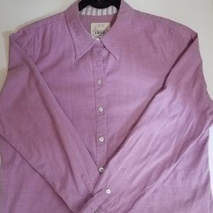 IZOD Purple Cotton Shirt Sz XL